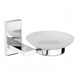 WR-YG110103 - Classic Frosted Glass Soap Dish