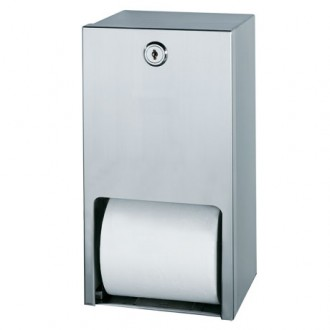 WR-JZH210W Satin Stainless Twin Toilet Roll Holder