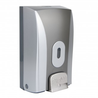 WR-CD-1188B - Silver/Graphite Bulk Fill Soap Dispenser