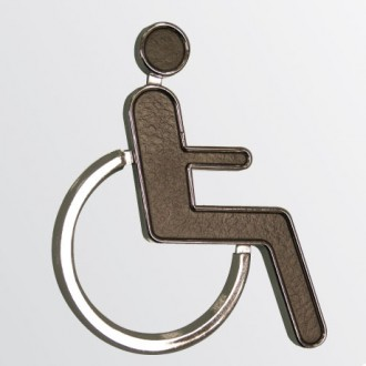 WR-SIGN-DISABLE-2 - Black & Chrome 'Disabled' Sign