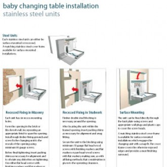 Baby Changing Table Installation Guide - Stainless Steel Units