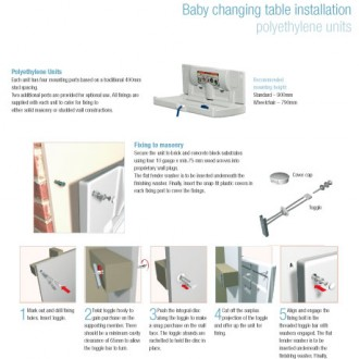 Baby Changing Table Installation Guide - Polyathylene Units