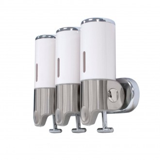 WR-103A - Triple Wall Mounted Bathroom Shower Dispenser