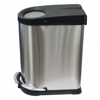 WR-EK9248MT-40L  - 40 Ltr Soft Close Push & Pedal Bin