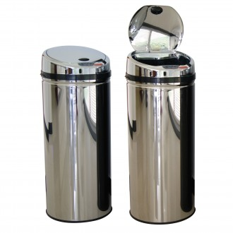 WR-ZYS-50LB-SS Bright Stainless 50 Ltr Automatic Sensor Bin