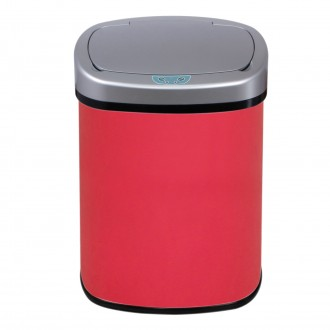 Red Oval Automatic Sensor Bin