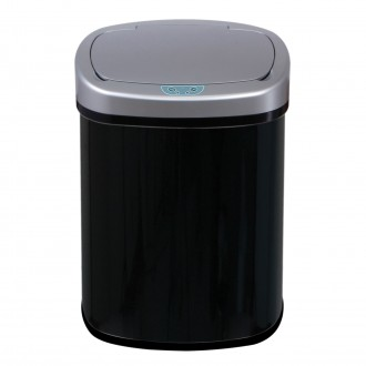 Black Oval Automatic Sensor Bin