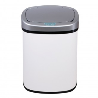 White Oval Automatic Sensor Bin