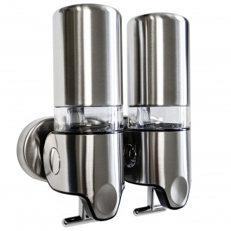 WR-118H-2 - Double Brushed Stainless Steel Shower Dispenser