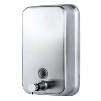 WR-H5-SOAP-DISP Stainless Steel Vertical Soap Dispenser
